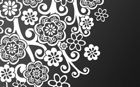 pattern white on black お花フラワー モノトーンでカッコいい センスある男前pcデスクトップ壁紙 画像集176 naver まとめ