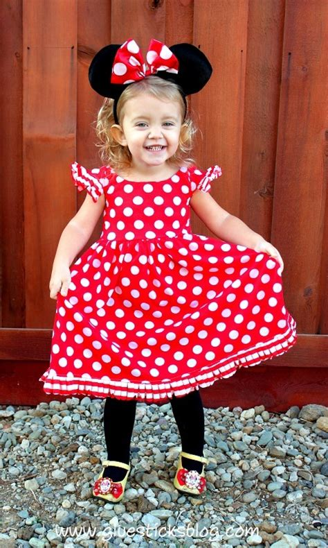 Handmade Minnie Mouse Costume - minnie mouse costume gluesticks