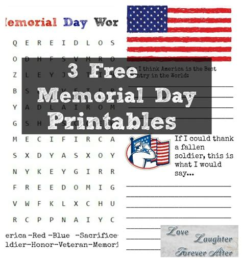 memorial day printable activity sheets 3 free memorial day printables