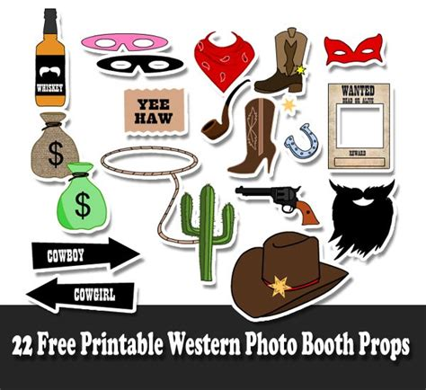free printable photo booth props cowboy 22 free printable western party photo booth props clip