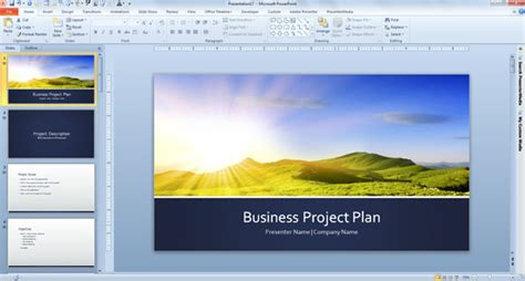 Free Business Plan Template For Powerpoint 2013 Powerpoint Presentation Powerpoint Templates 2013