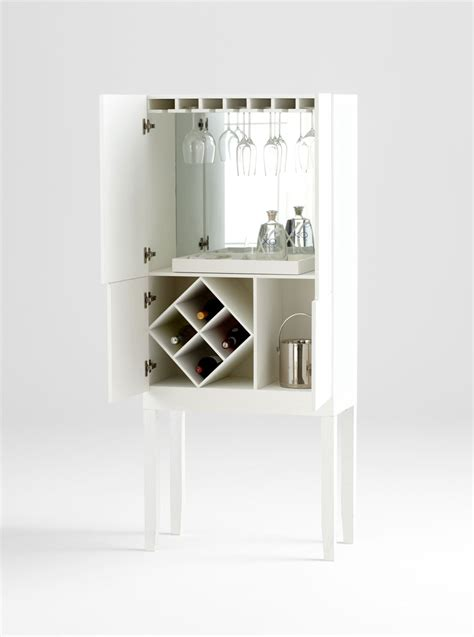 White Bar Cabinet with Hideout Bar Cabinet Moss Manor A Design House