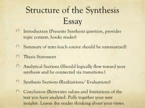 Exle Synthesis Essay by Synthesis Essay Presentation