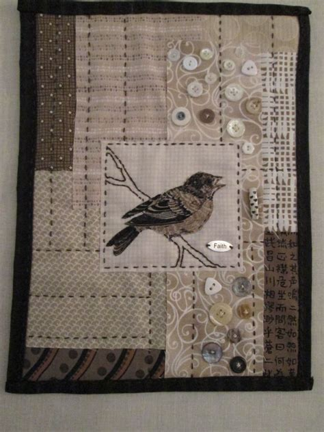 Patchwork Wall Hangings - rmm quilt bird wall hanging simply made using mixed