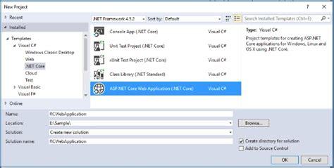 Asp Net Core With Visual Studio 2017 Rc Visual Studio 2017 Website Templates