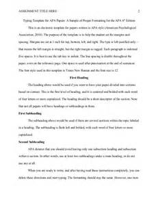 apa 6th edition template without abstract