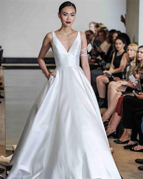 simple wedding dresses    plain chic martha