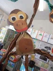 Paper Bag Monkey Craft - paper bag crafts on paper bags paper bag