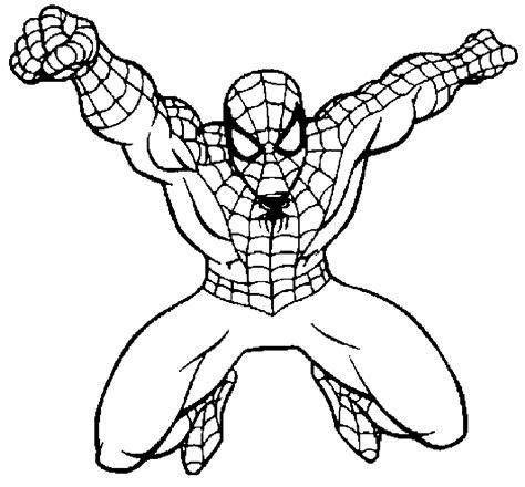 imagenes de spiderman para dibujar faciles dibujo para colorear spiderman saltando con telara 241 a