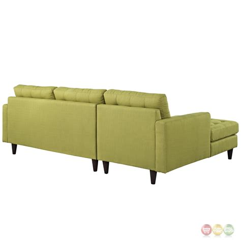 left facing sectional sofa empress left facing button tufted upholstered sectional
