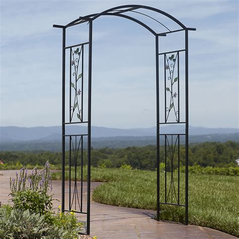 Essential Garden Arbor Essential Garden Garden Arbor With Stained Glass Outdoor