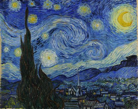 starry night the starry night by vincent van gogh 1889 fine art photo 31674050 fanpop