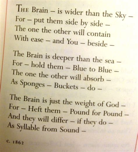 the brain is wider than the sky thinglink the brain is wider than the sky by emily dickinson like