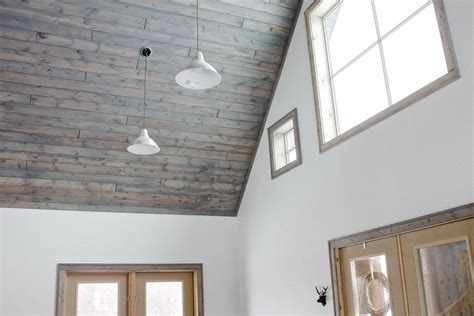 Tongue And Groove Boards For Ceiling by Nail A Tongue And Groove Ceiling Youyesyou Decors