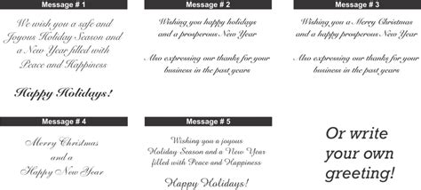 business card messages ideas about holidays greetings messages sles