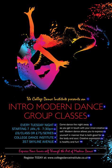 poster design dance modern dance black poster ticket printing