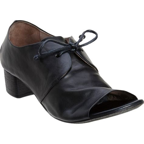 marsell shoes marsell peep toe lace up shoes in black lyst