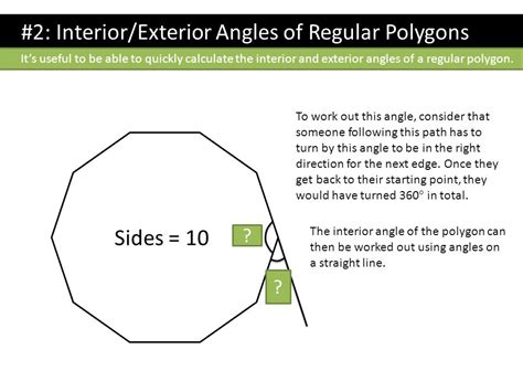 Polygons Exterior And Interior Angles by Dr J Topic 2 Geometry Dr J Ppt