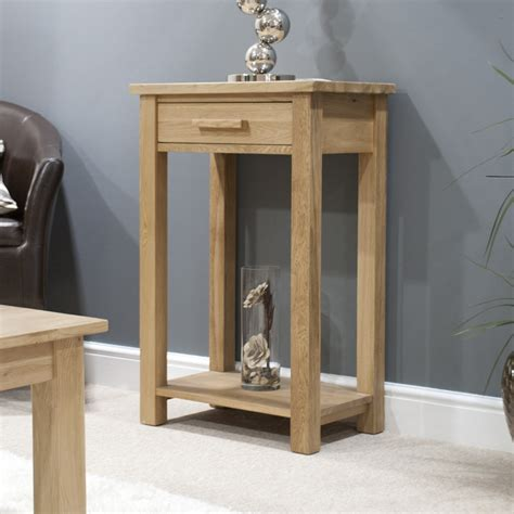 Z Side Table forest oak small hall table free delivery to bristol area