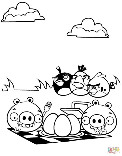 100 angry birds coloring pages online angry birds