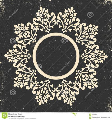wedding invitation ornament circles vintage frame circular baroque pattern floral ornament greeting card wedding invitation