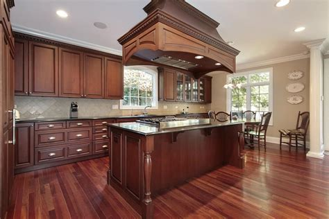 What Color Hardwood Floor with Cherry Cabinets that You