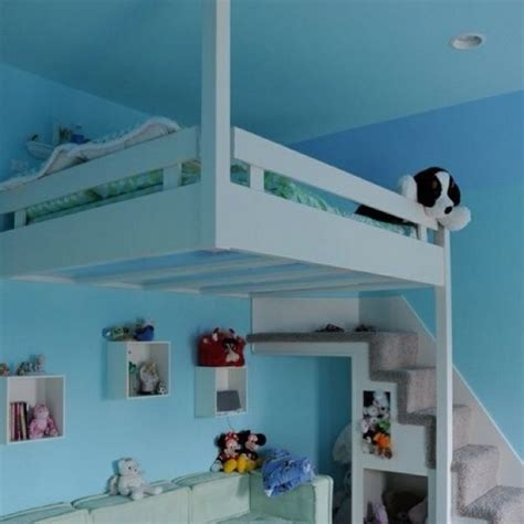 cool loft bed with stairs home