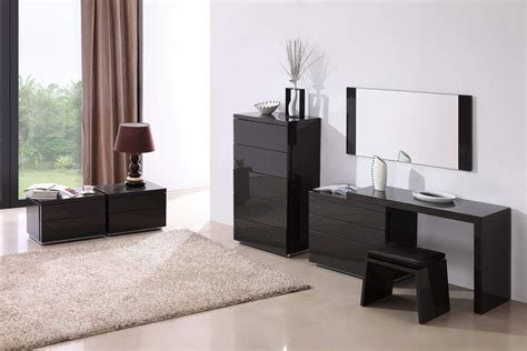 Modern Bedroom Stands Grey Gloss Functional Stand For Contemporary