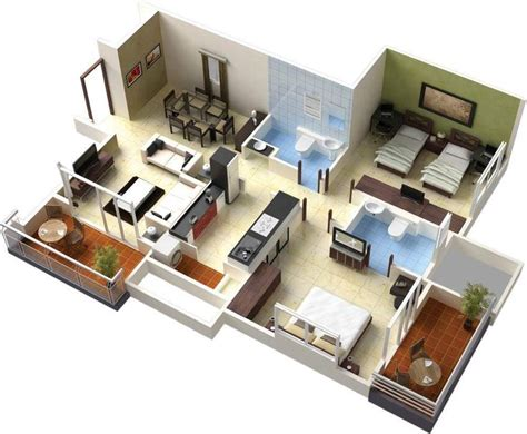 home design 3d español para windows 7 98 best 3d floor plans images on pinterest floor plans