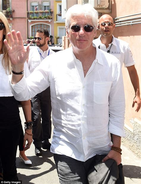 who is the pretty woman on the viagra commercials richard gere arrives at sicily s 61st annual taormina film