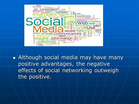 social networking effects the negative effects of social media ppt video online