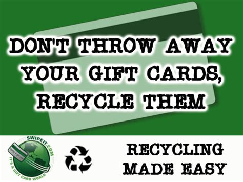 recycling gift card program swipeit com custom gift cards e gift cards and - Gift Card Recycling
