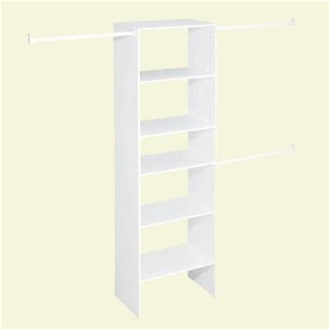 home depot closets organizers closetmaid selectives 25 in white custom closet organizer