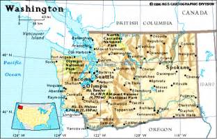 map of washington state and canada point washington usa a detached peninsula