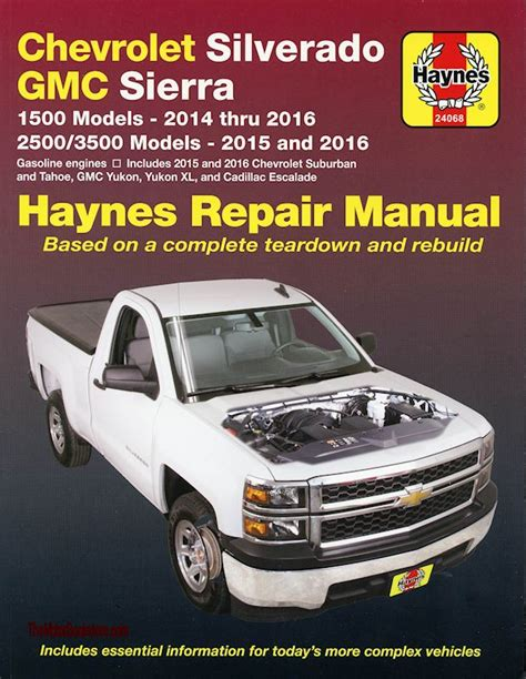 car engine manuals 2002 chevrolet suburban 2500 parental controls repair manual chevy silverado tahoe sierra escalade 2014 2016