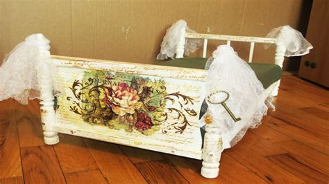 Decoupage Bed - how to decoupage a bed cat bed from dolls bed