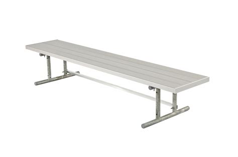 team bench dmtgl double moveable team bench galvanized light