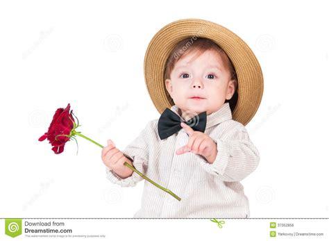 el beb emocional 8499916848 caballero bonito emocional del beb 233 con una rosa en su mano imagen de archivo libre de regal 237 as