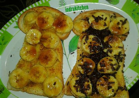 resep roti pisang panggang karamel oleh indria cookpad