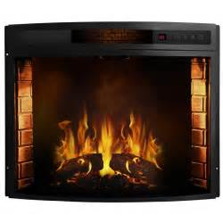Fireplace Insert Electric Moda Elwood 23 Inch Curved Electric Fireplace Insert