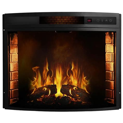 moda elwood 28 inch curved electric fireplace insert