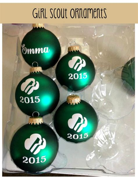 girl scout holiday ornaments craft craft scout ornaments using a silhouette machine