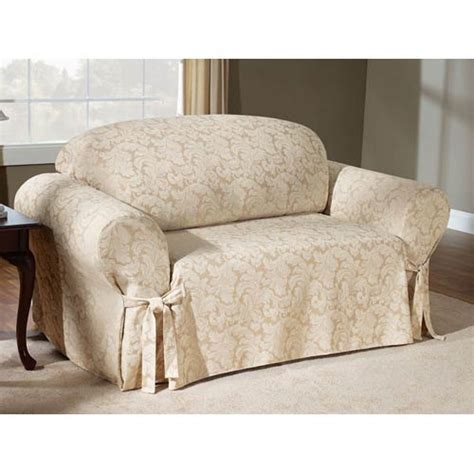 sure fit scroll slipcover chagne scroll sofa slipcover sure fit slipcovers home