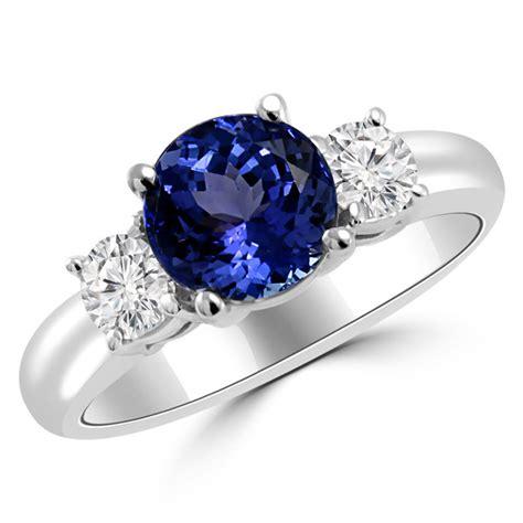 Black Safir Golden 8 5 Cts 1 56ct tanzanite 3 engagement ring