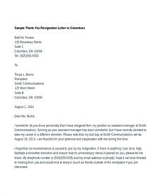 sle thank you letter to your colleague cover letter