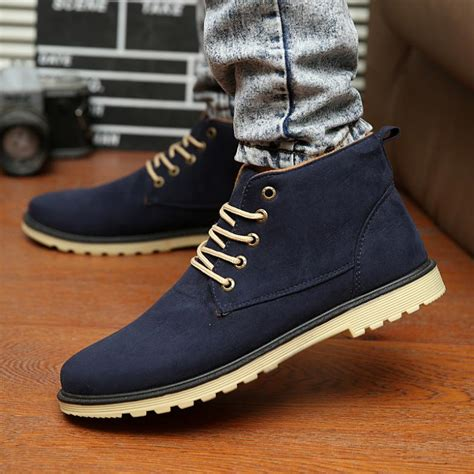 new 2015 pu leather boots brand casual shoes