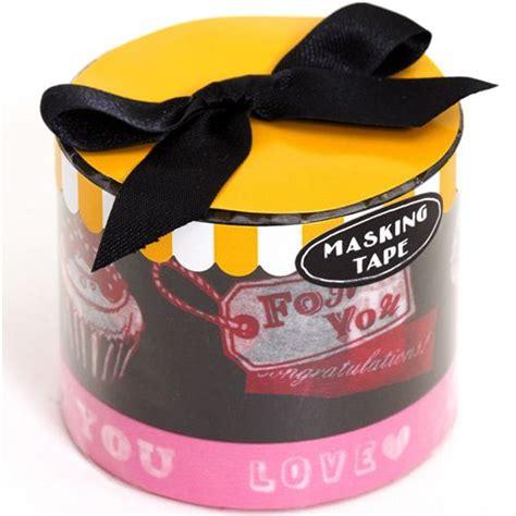 Japan Tosca And Ribbon Washi Sle Set washi masking deco set 2pcs with cupcakes deco sets deco stationery shop