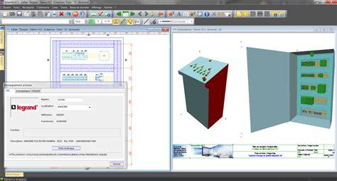 logiciel armoire electrique interface schemelect vers logiciels 3d ftz