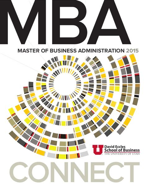 David Eccles School Of Business Mba by Mba David Eccles School Of Business Uofu 2015 Program