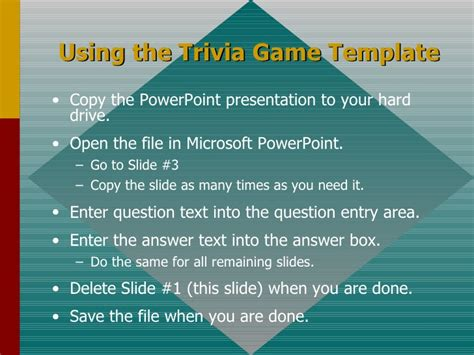trivia template powerpoint trivia template